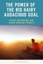The power of the Big Hairy Audacious Goal