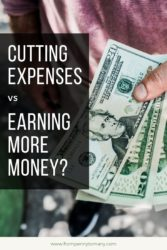 Cutting expenses vs earning more money_