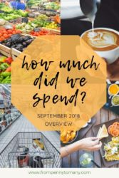 How much did we spend - september 2018