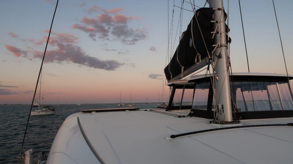 At anchor in Culatra, Portugal