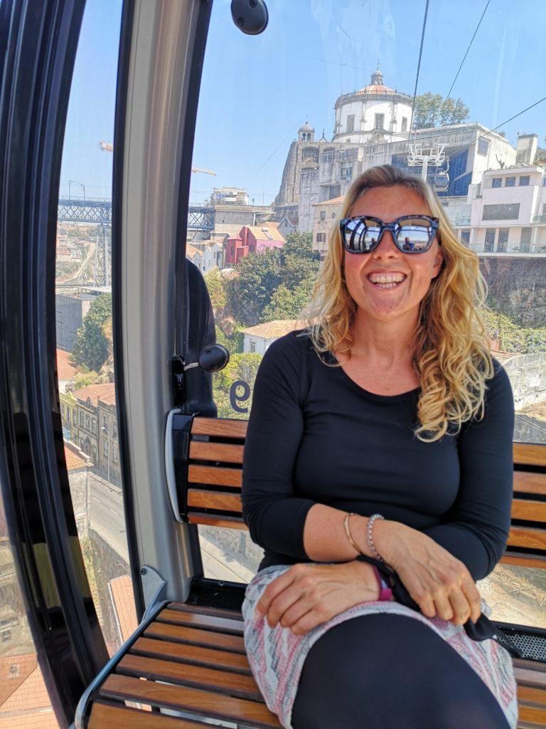 Cable cart ride in Porto, Portugal