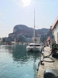 Filling up the diesel tanks in Gibraltar