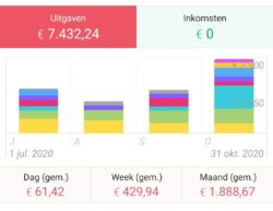 Total and average expenses over 4 months