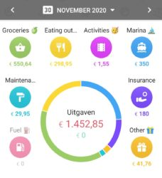 Screenshot of our expenses in November 2020