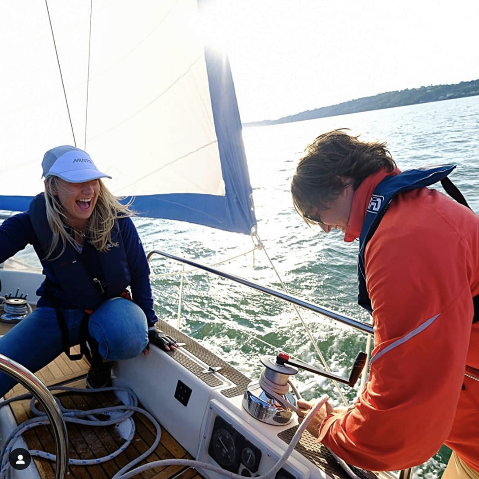 Happy times on board of sailboat 'Katelin'