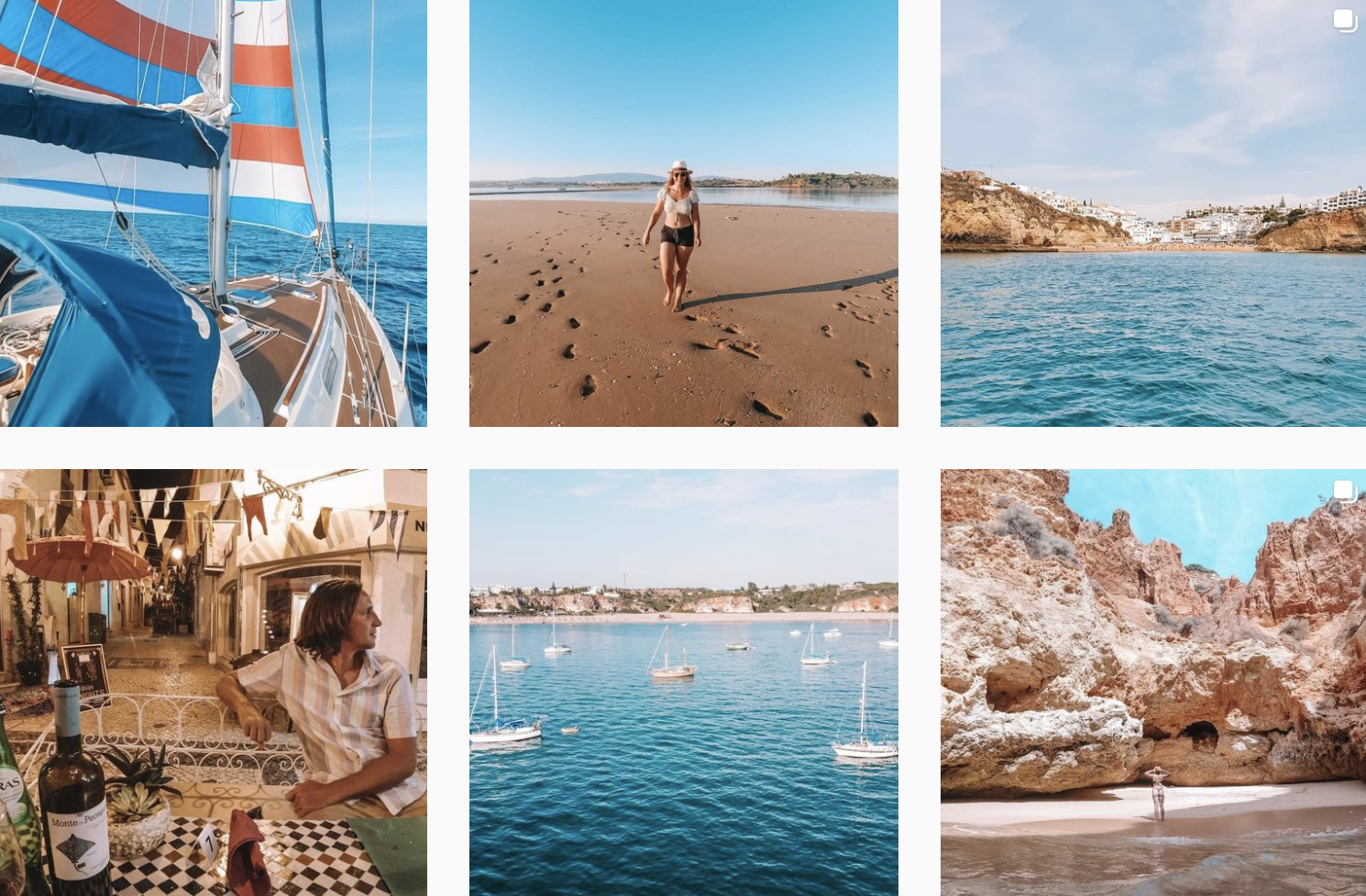Capture from Katelin & Andrew's Instagram 'A Nautical Change'