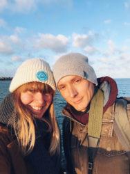 Kathi & Max selfie after proposal