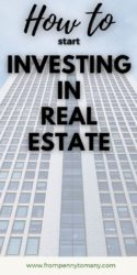 how to start investing in real estate pin