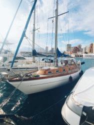 MAKANI in the Calpe marina