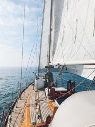 Makani sailboat under sail