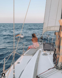 Ceylan & Alfie sailed the Med on their second boat