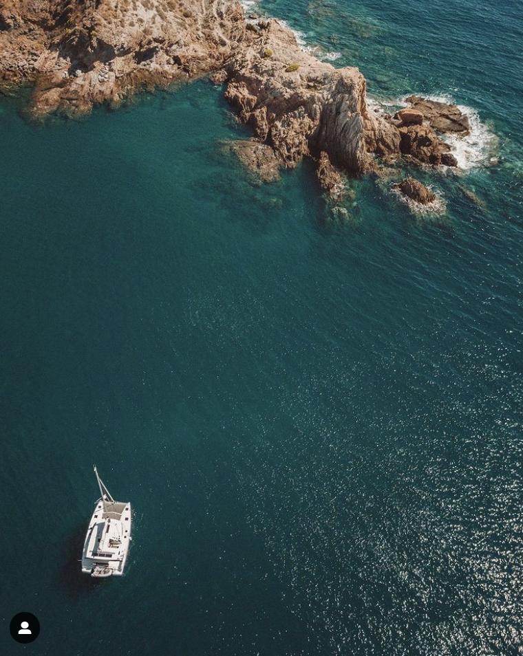 Coco at anchor near Cartagena, Spain