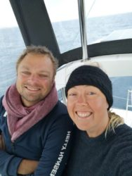 Sailing the Med in April: still a bit cold!