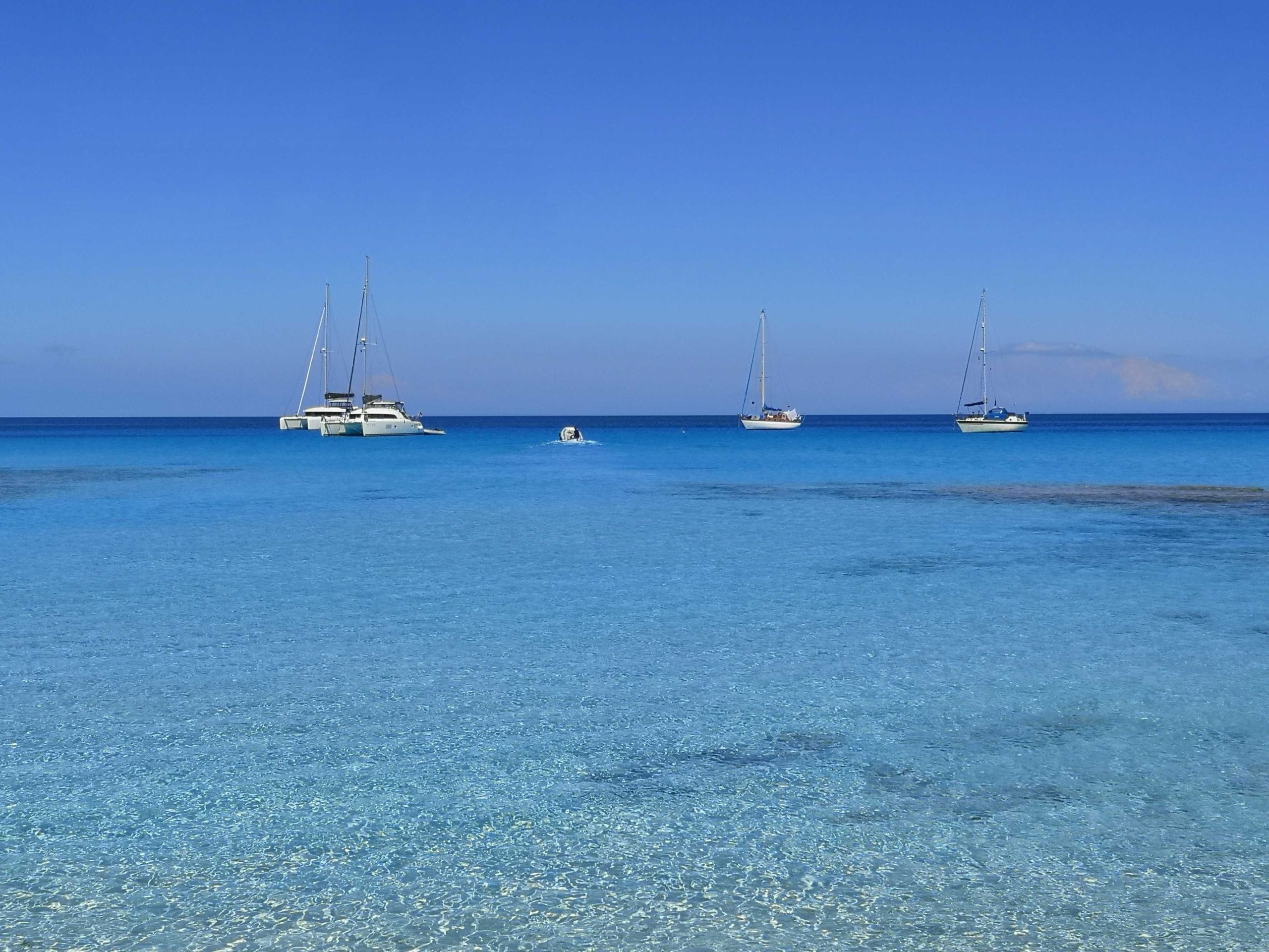 The boats in Formentera