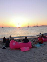 Simple beach bbq or millionaire lifestyle?