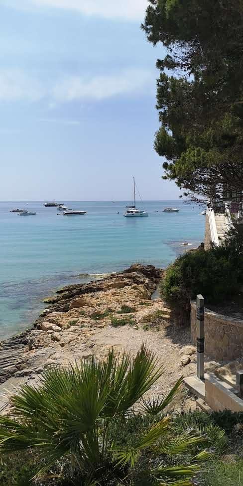 At anchor in Sant Elm, Mallorca