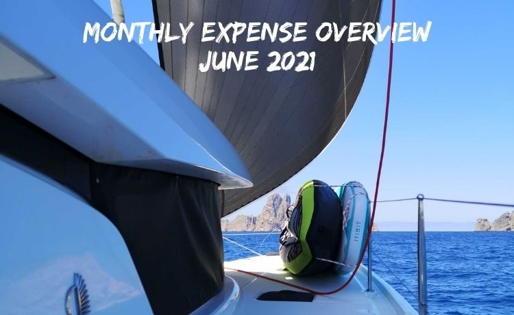 Monthly expenses overview June 2021